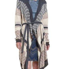 Desigual Tamesis Stripe Cardigan Coat
