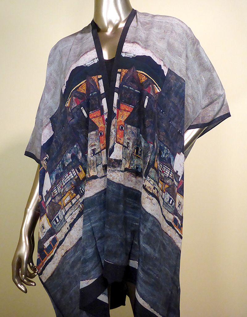 Cocoon House Silk Long Kimono Jacket