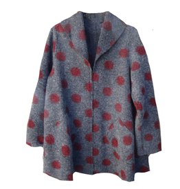 Cut Loose Dot Wool Swing Jacket