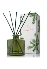 Thymes Frasier Fir Petite Reed Diffuser Green Glass Vessel