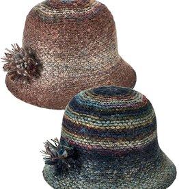 San Diego Hat Marled Yarn Cloche w/ Yarn Pom