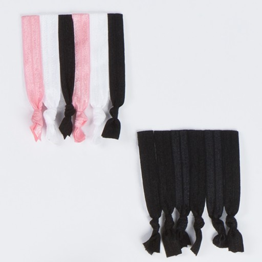 W/S Accessory 1553- Satin No Line Ponytail Elastic 6 Pack