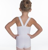 W/S Kid Apparel Leiscester Square Wide Strap Leotard with V Back