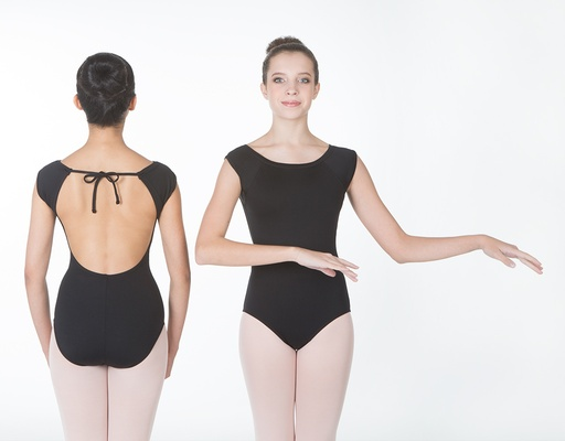W/S Adult Apparel Bateau Neck Open Back Leotard