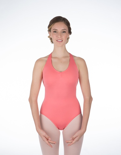 W/S Kid Apparel Hyde Park Pinch Front Open Back Halter Leotard