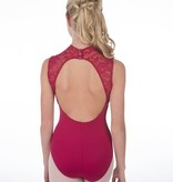 W/S Kid Apparel Eva Marie Saint Lace Sleeveless Turtleneck Open Back Leotard