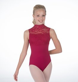 W/S Adult Apparel Eva Marie Saint Lace Sleeveless Turtleneck Open Back Leotard