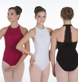 W/S Adult Apparel Kate High Neck Leotard with Vertical Mesh Bar Back
