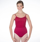 W/S Adult Apparel Pippa Camisole Leotard with Mesh Cross Back
