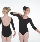 W/S Adult Apparel Harrison 3/4 Sleeve Leotard with Pinch Front