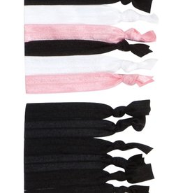 W/S Accessory Satin No Line Ponytail Elastic 6 Pack