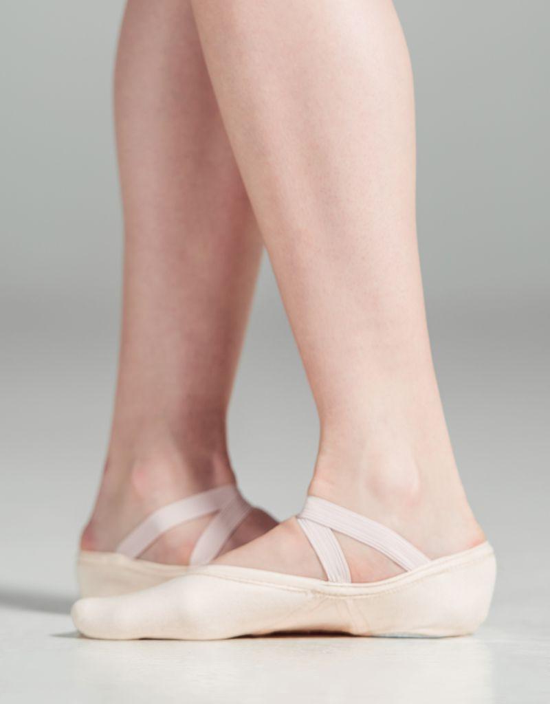 W/S Dance Shoe Slipor Stretch Canvas Split Sole Ballet Shoe-AM
