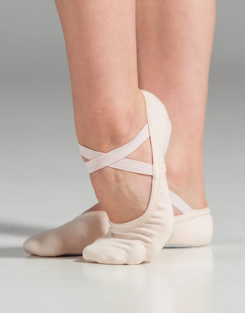 W/S Dance Shoe Slipor Stretch Canvas Split Sole Ballet Shoe-AN