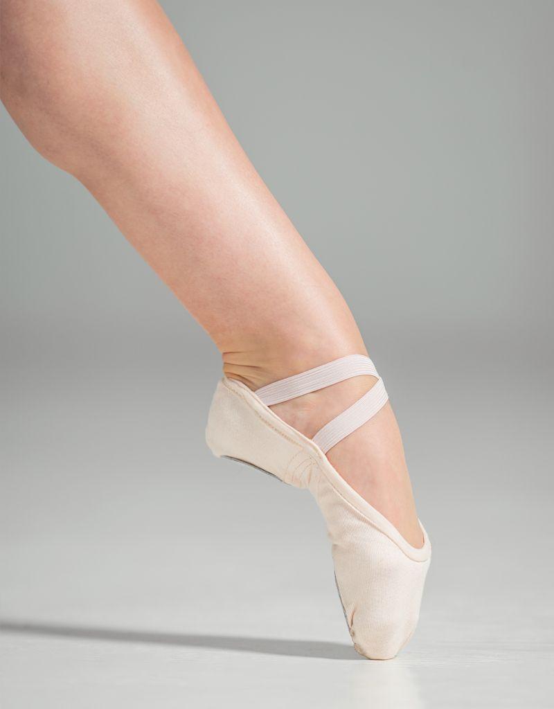 W/S Dance Shoe Slipor Stretch Canvas Split Sole Ballet Shoe-CN