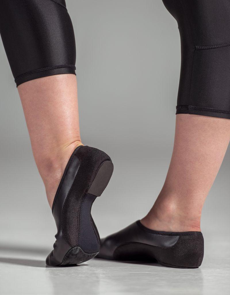W/S Dance Shoe Suede Split Sole Neoprene Arch Jazz Shoe-CN