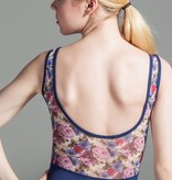 W/S Adult Apparel Botanical sweetheart tank with printed mesh back
