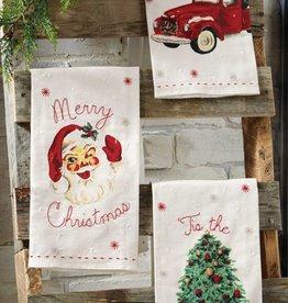 mud pie vintage christmas towels - Mud Pie Christmas Decor