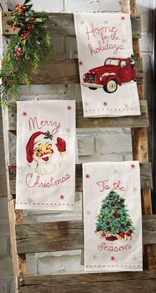 mud pie vintage christmas towels