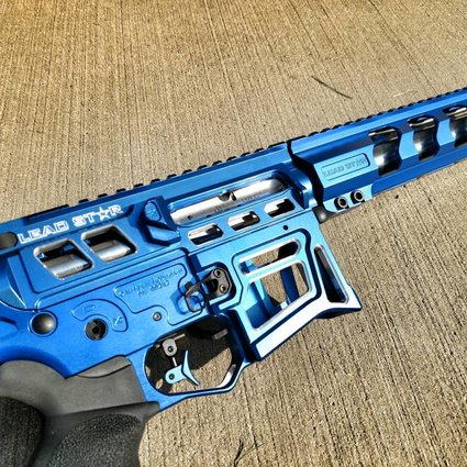 Lead Star Arms LSA-15 Contrast Cut w/ Proof Research Stainless Barrel- Blue