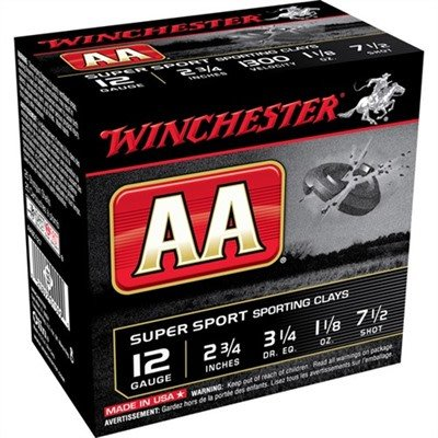 Winchester Winchester AA 12ga 2.75 #7 1/2 1-1/8oz 1300fps-Case