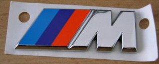 BMW M Emblem 5cm stick on