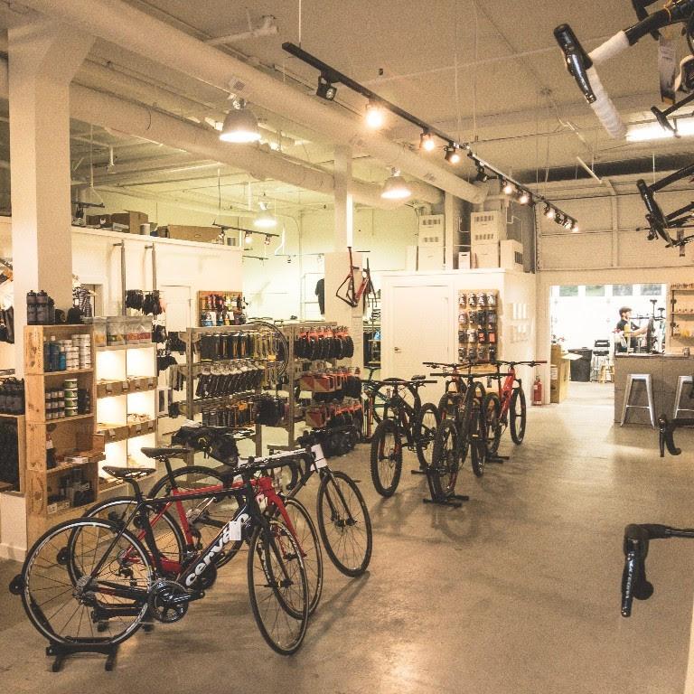 Bicicletta West Vancouver shop floor