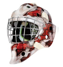 Bauer 2017 BAUER GM NME 4 GOAL MASK THE WALL RED JUNIOR