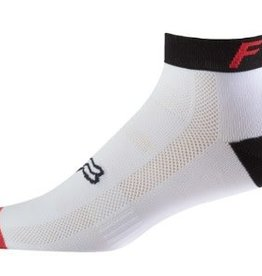 "FOX FOX 4"" TRAIL SOCK - wht/red/blk S/M"