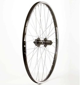 "Wheel Shop Wheel Shop, Rear 26"" Wheel, 36H Black Alloy Double Wall Alex ACE-17/ Black Formula DC-22 QR 8-10spd 6 Bolt Disc Brake Hub"