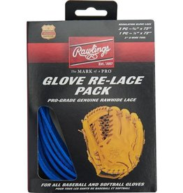 "Rawlings RAWLINGS GLOVE RE-LACE PACK (3PC-3/16X72"" & 1PC-1/4X72"")"