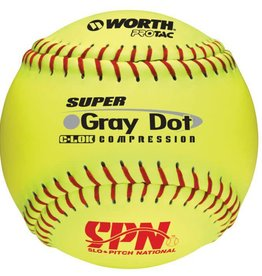"Worth WORTH GREY DOT 12"" OPTIC ball"
