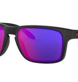 Oakley OAKLEY HOLBROOK - MATTE BLACK POSITIVE RED IRIDIUM LIFESTYLE