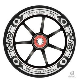 District DISTRICT S-SERIES WHEEL EACH BLACK/BLACK 110MM