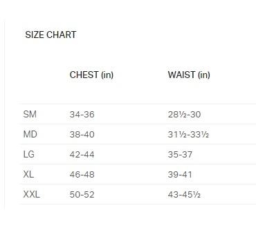 UA Mens Shirt Size Chart