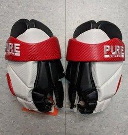 "Pure PURE RINGETTE GLOVE LEATHER - Wht/Blk/Red - 13"""