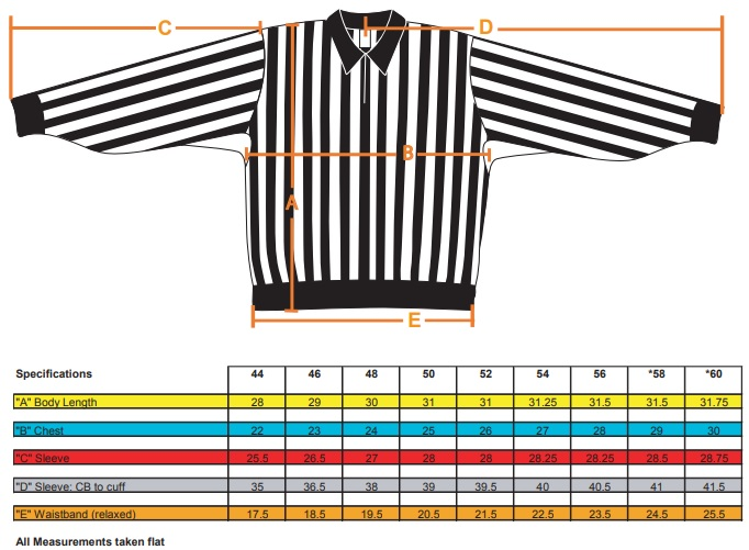 Force Jersey Sizing