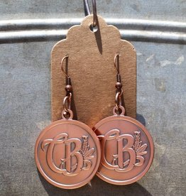 Round Copper Earrings - CBD Emblem