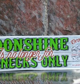 "Decal - Rectangle 11.5"" - CBD Moonshine Rednecks Only"