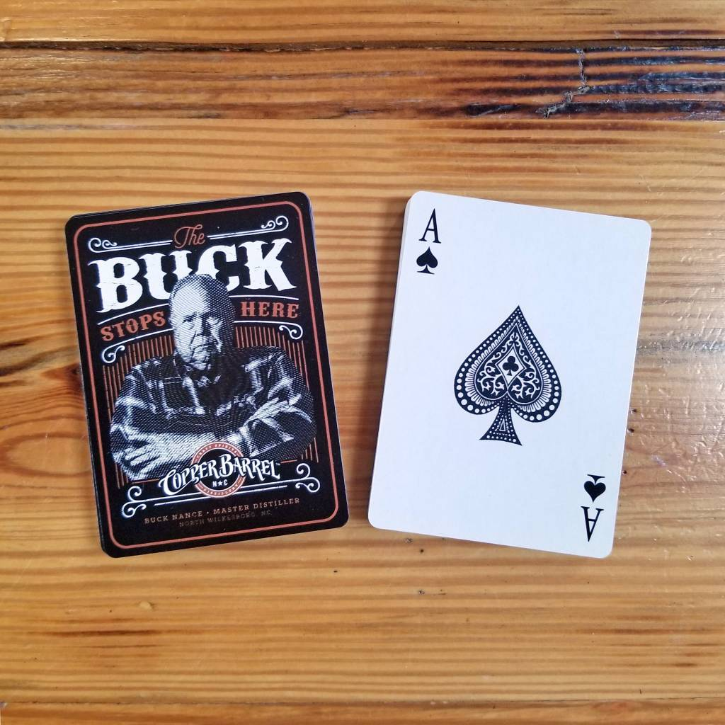 Copper Barrel Distillery Poker Cards [Buck Stops Here]