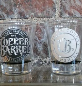 Copper Barrel Provisions Shot Glasses [Clear] Two Sided