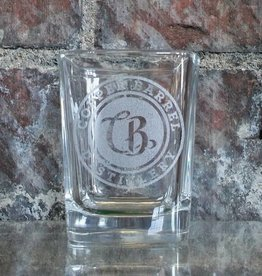 Copper Barrel Provisions Shot Glasses [Square] Laser Etched CB Emblem