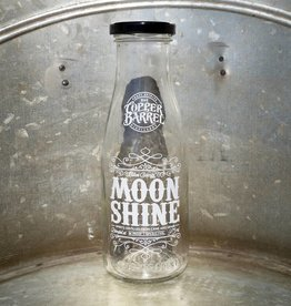Sinma Empty Moonshine Bottles [1-Color WT] (375 ml)