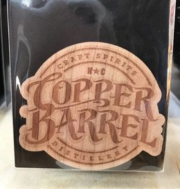 Dust City Wood Stickers Copper Barrel logo Cherry