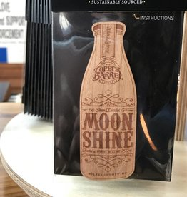 Wood Sticker - Moonshine Bottle [Cherry]