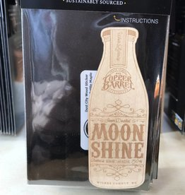 Dust City Wood Stickers Moonshine bottle Maple