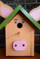 Piggy Bird House [Peach/Green]