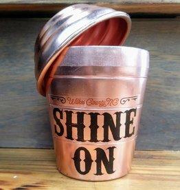 Copper Barrel Provisions 'Shine on' Aluminum Mini Shaker 8oz