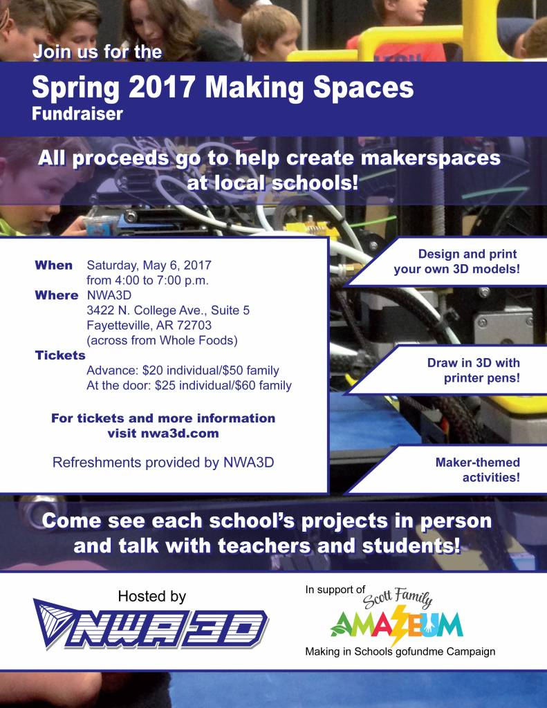nwa 3d news nwa3d spring 2017 making spaces fundraiser hosted by nwa3d