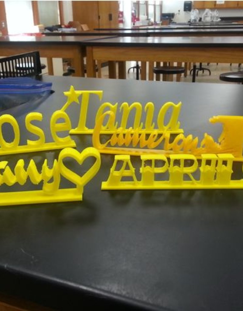 Desk Name Plate Project