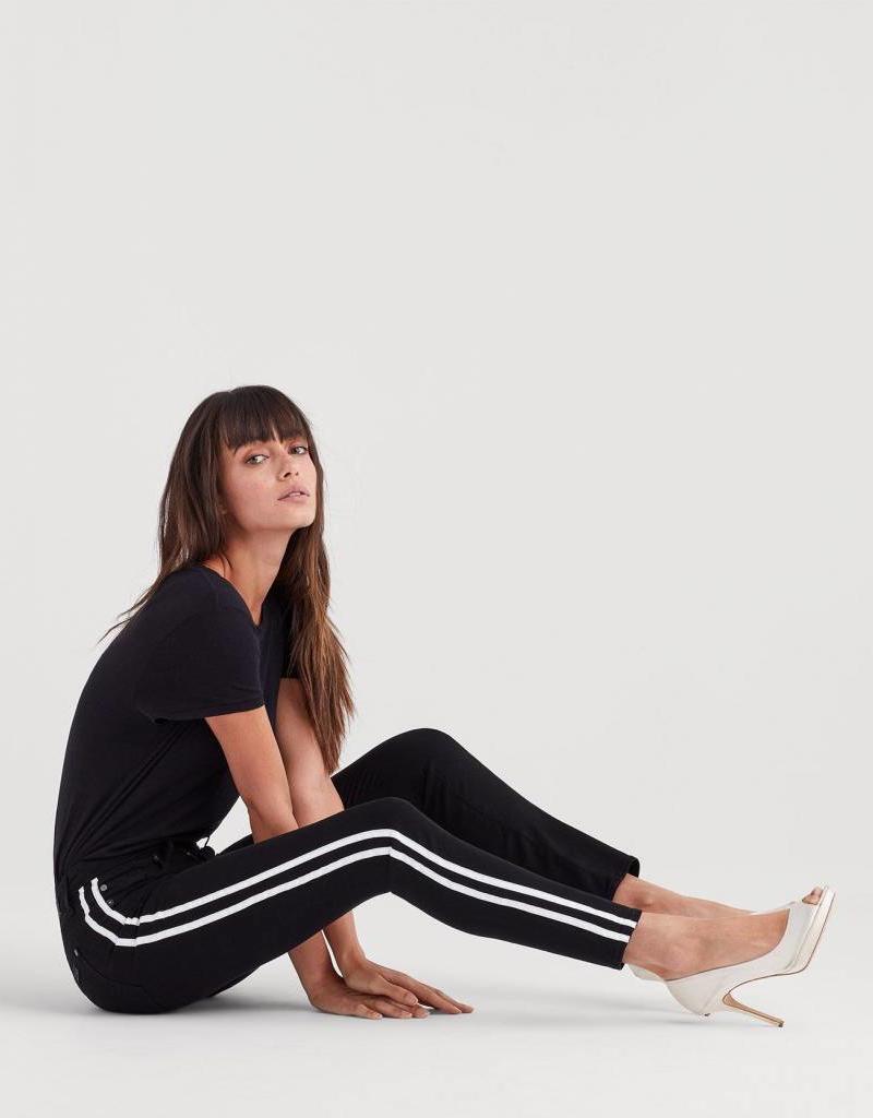 7 For All Mankind B(air) Denim Ankle Skinny - White Stripes
